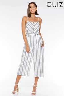 Quiz Stripe Culotte Jumpsuit