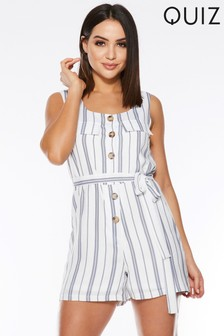 Quiz Stripe Playsuit