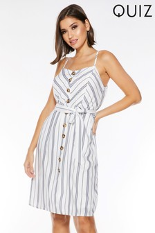 Quiz Stripe Midi Dress