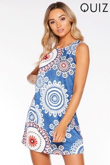 Quiz Print Tunic Dress