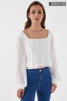 Missguided Square Neck Crochet Top