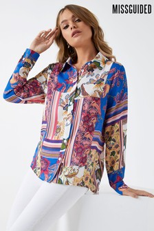 Missguided Floral Print Shirt