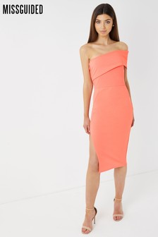 Missguided One Shoulder Midi Dress