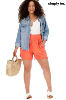Simply Be Frill Hem Shorts