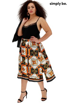 Simply Be Scarf Print Skirt