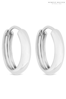 Simply Silver Sterling Silver 15mm Hoops