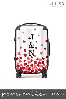 Personalised Floating Hearts Suitcase by Koko Blossom