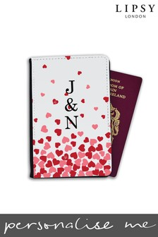 Personalised Lipsy Floating Hearts Passport Cover By Koko Blossom