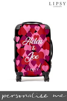 Personalised All Over Hearts Suitcase by Koko Blossom