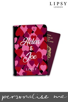 Personalised Lipsy All Over Hearts Passport Cover By Koko Blossom
