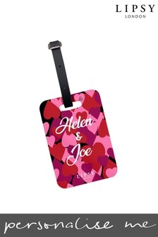Personalised Lipsy All Over Hearts Luggage Tag By Koko Blossom