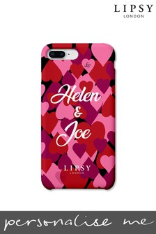 Personalised Lipsy All Over Hearts Phone Case By Koko Blossom