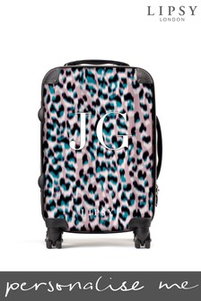 Personalised Lipsy Bianca Leopard Print Suitcase By Koko Blossom