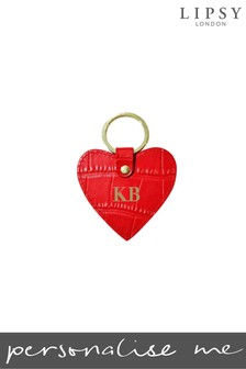 Personalised Lipsy Mock Croc Leather Keyring By Koko Blossom