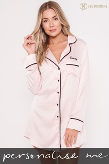 Personalised Satin Luxe Night Shirt By HA Design