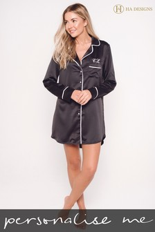 Personalised Satin Luxe Night Shirt By HA Designs