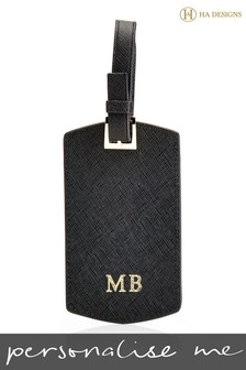 Personalised Saffiano Luggage Tag By HA Designs