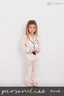 Personalised HA Mini Childrens Long Sleeve Pyjama Set By HA Designs