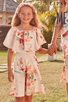 Lipsy Girl Occasion Floral Frill Dress
