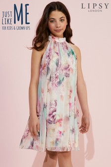 Lipsy Girl Rosalie Print Embellished Dress