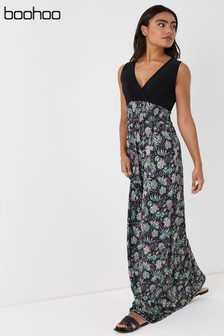 Boohoo Floral 2 In 1 Maxi Dress