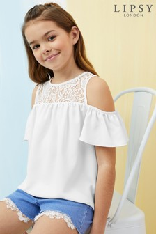 Lipsy Girl Lace Detail Top