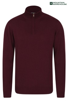 Mountain Warehouse 1/4 Zip Mens Chunky Knit Jumper