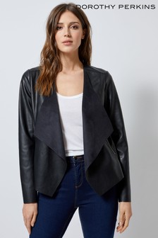 Dorothy Perkins PU Waterfall Jacket