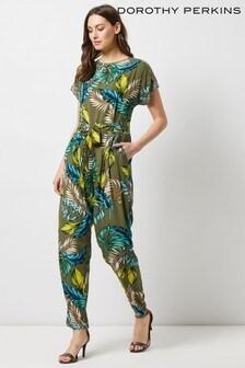 Dorothy Perkins Leaf Print Jumpsuit