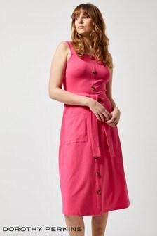 Dorothy Perkins Button Through Strappy Midi Dress