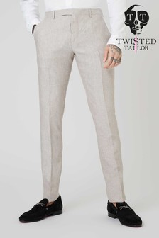 Twisted Tailor Runner Linen Suit Trouser