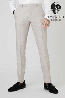 Льняные костюмные брюки Twisted Tailor Runner