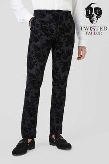 Костюмные брюки с цветочным рисунком Twisted Tailor Colada