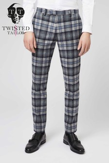Twisted Tailor Hoffman Check Suit Trousers