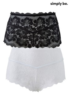 Simply Be Katie Lace Midi Shorts - 2 Pack
