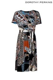 Dorothy Perkins Paisley Scarf Button Midi Dress
