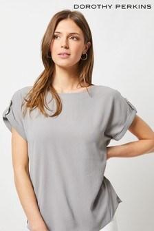Dorothy Perkins Button T-Shirt