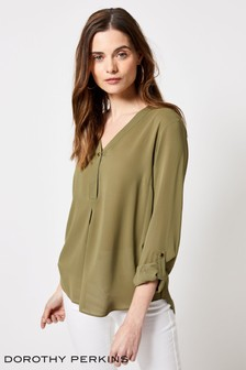 Dorothy Perkins Button Roll Sleeve Shirt