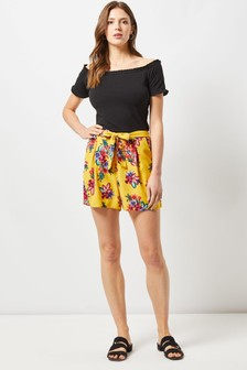 Dorothy Perkins Tie Waist Floral Shorts