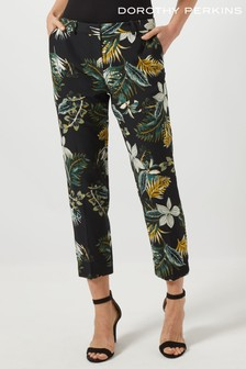 Dorothy Perkins Dark Floral Ankle Grazer Trouser