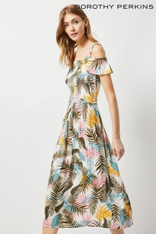 Dorothy Perkins Tall Floral Crinkle Midi Dress