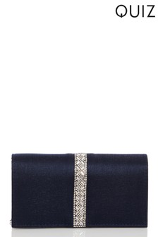 Quiz Satin Jewel Trim Bag
