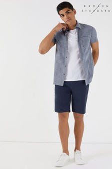Broken Standard Short Sleeve Check Shirt