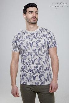 Broken Standard T-Shirt mit Blattdruck