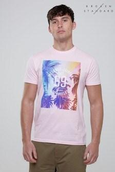 """Broken Standard T-Shirt mit """"Los Angeles""""-Aufschrift"""