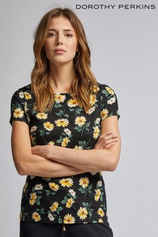 Dorothy Perkins Daisy Floral Print Crew Neck T-Shirt