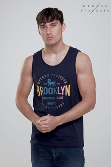 Broken Standard Brooklyn Print Vest