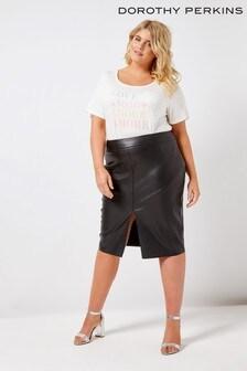 Dorothy Perkins Curve PU Midi Skirt
