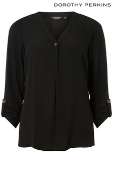 Dorothy Perkins One Button Roll Sleeve Shirt