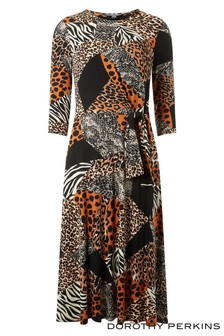 Dorothy Perkins Tall Animal Print Dress